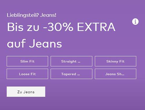 30% Rabatt auf Kleider und Herrenjeans im ABOUT YOU Onlineshop