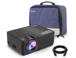 ManyBox Mini Beamer (Native Auflösung 800 x 480) mit HDMI, VGA, USB und MicroSD Slot für 39,99 Euro