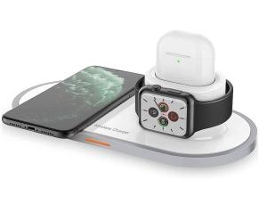 KKUYI Qi 3-in-1 Wireless Charger mit Apple Watch Ladeadapter für nur 17,99 Euro