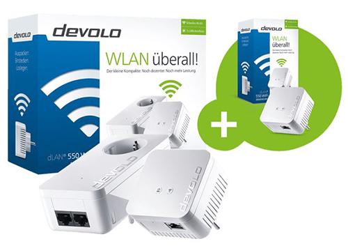 DEVOLO dLAN 550 WiFi Starter Kit + dLAN 550 WiFi (Kabellos und Kabelgebunden) für nur 86,76 Euro inkl. Versand