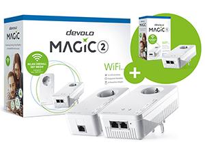 DEVOLO Magic 2 WiFi Starter Kit + Magic 1 WiFi Single für nur 179,- Euro inkl. Versand (statt 270,- Euro)