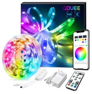Govee 5m RGB LED Strip mit Bluetooth und App Control für 14,39 Euro