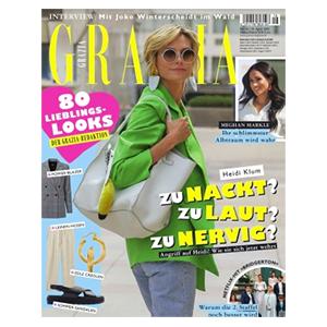 Halbjahresabo (26 Ausgaben) Grazia mit für 85€ – als Prämie: 85€ BestChoice Gutschein als Prämie