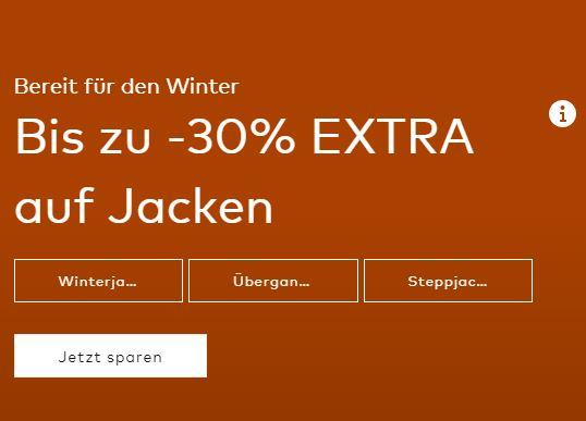 30% Rabatt auf Jacken im ABOUT YOU Onlineshop