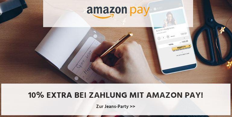 10% Rabatt bei Bezahlung mit AmazonPay im Jeans-Direct Onlineshop