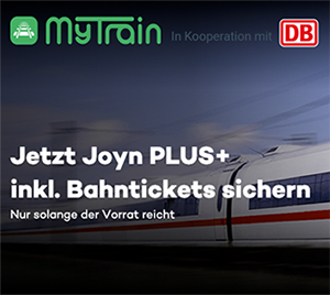 Letzter Tag: 2x ICE Bahntickets + 6 Monate Joyn PLUS+ nur 59,90 Euro – oder 1 Ticket 34,90 Euro