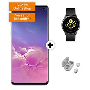 o2 Free M mit 20 GB Daten für mtl. 29,99 Euro + Samsung Galaxy S10 & Galaxy Watch Active & Galaxy Buds für 29,- Euro