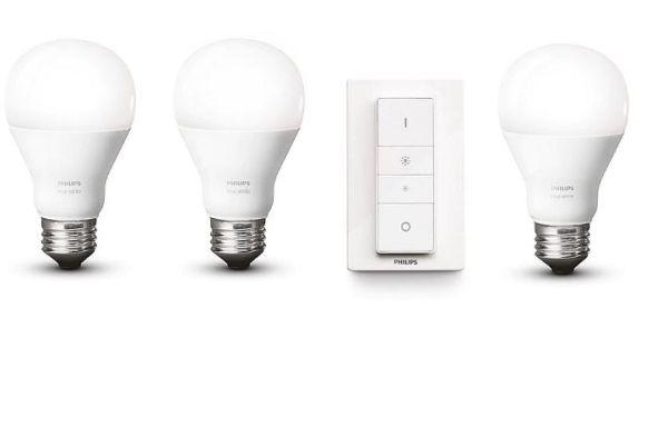 Philips Hue White Wireless Dimming Starter Kit + Dimmschalter für nur 42,90 Euro (statt 60,- Euro)