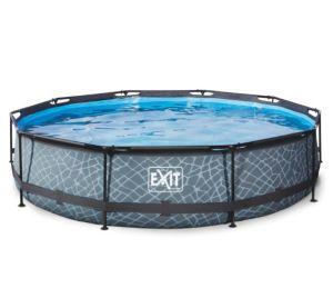 Exit Stone Pool (ø 360 x 76 cm, mit Filterpumpe) für nur 154,69€ inkl. Versand