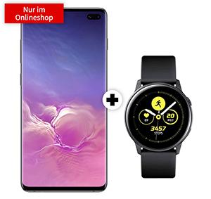 o2 Free M Boost mit 40GB Daten für mtl. 34,99 Euro + Samsung Galaxy S10+ & Galaxy Watch Active für 1,- Euro