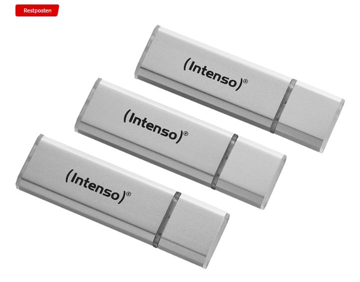 INTENSO 3521483 Tripplepack USB Stick (Silber, 32 GB) für nur 11,- Euro