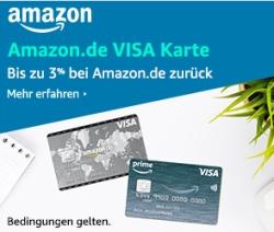 Geht noch! Amazon Visa Karte mit 40,- Euro Startgutschrift mit und ohne Prime-Mitgliedschaft