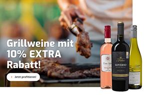 10% Extra-Rabatt auf über 50 verschiedene Grillweine bei Weinvorteil