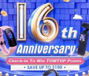 Ab 9:30 Live auf Facebook: Tomtop Geburtstagsparty mit jeder Menge Deals