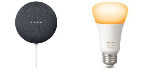 Bundle: Google Nest Mini Smart Speaker 8Google Assistant) + Philips Hue Lampe für nur 59,- Euro inkl. Versand