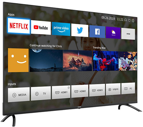 CHiQ U50H7L LED-TV (50 Zoll, SmartTV, UltraHD/4K, WLAN, Bluetooth) für nur 285,99 inkl. Versand