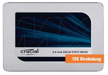 CRUCIAL MX500 500GB interne 2,5 Zoll SSD für nur 49,90 Euro inkl. Versand