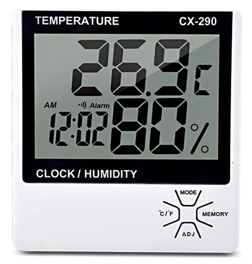 Donci Innenthermometer (Temperatur, Uhrzeit, Luftfeuchtigkeit) für nur 5,99 Euro