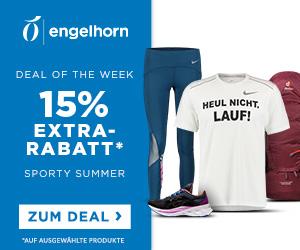 Engelhorn Sports Weekly Deal mit 15% Rabatt auf über 2.600 ausgewählte Sportartikel