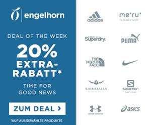 Engelhorn Sports Markentage mit 20% Rabatt auf viele Marken wie Nike, Adidas oder New Balance