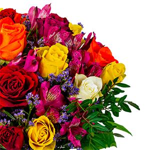 Blumenstrauß Farbtraum + gratis Vase für nur 27,98€ inkl. Versand