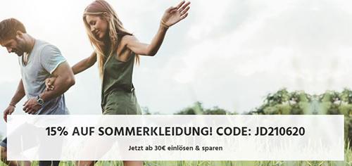15% Rabatt auf Sommerkleidung bei Jeans Direct