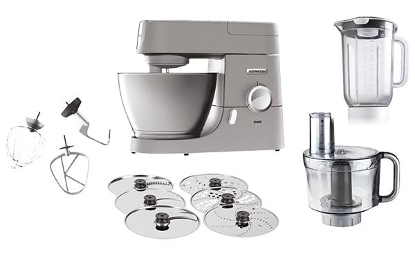 KENWOOD KVC3150S Chef Küchenmaschine inkl. 5 Zubehörteile für nur 279,- Euro (statt 333,- Euro)