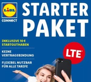 Lidl Connect Starter Pakete mit 50% Rabatt und 10,- Euro Startguthaben