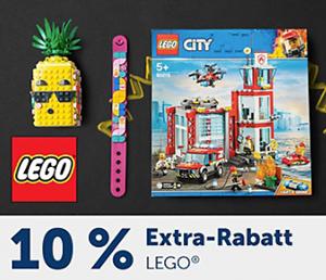 10% Rabatt auf Lego Artikel im myToys Onlineshop