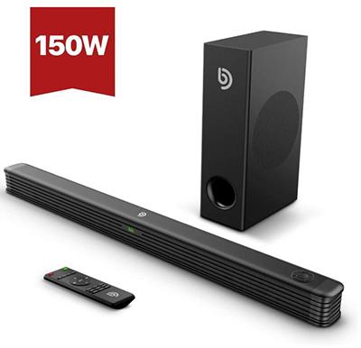 Bomaker Soundbar mit Wireless Subwoofer (2.1 Kanal, 150W, Bluetooth 5.0) für nur 90,99 Euro inkl. Versand