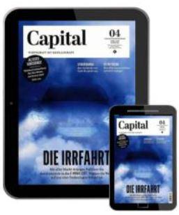 Capital Digital E-Paper im Prämien-Abo ab 75,04 Euro und dazu Gutscheinprämien im Wert von bis zu 75,- Euro