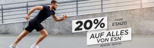 20% Rabatt auf alles von ESN im Fitmart Onlineshop