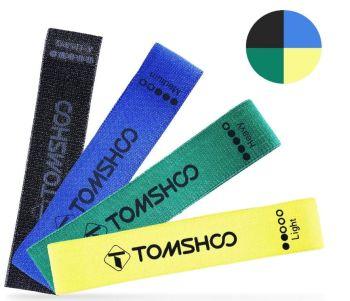 Tomshoo Fitnessbänder (4 Widerstandsstärken) für nur 11,99 Euro inkl. Versand