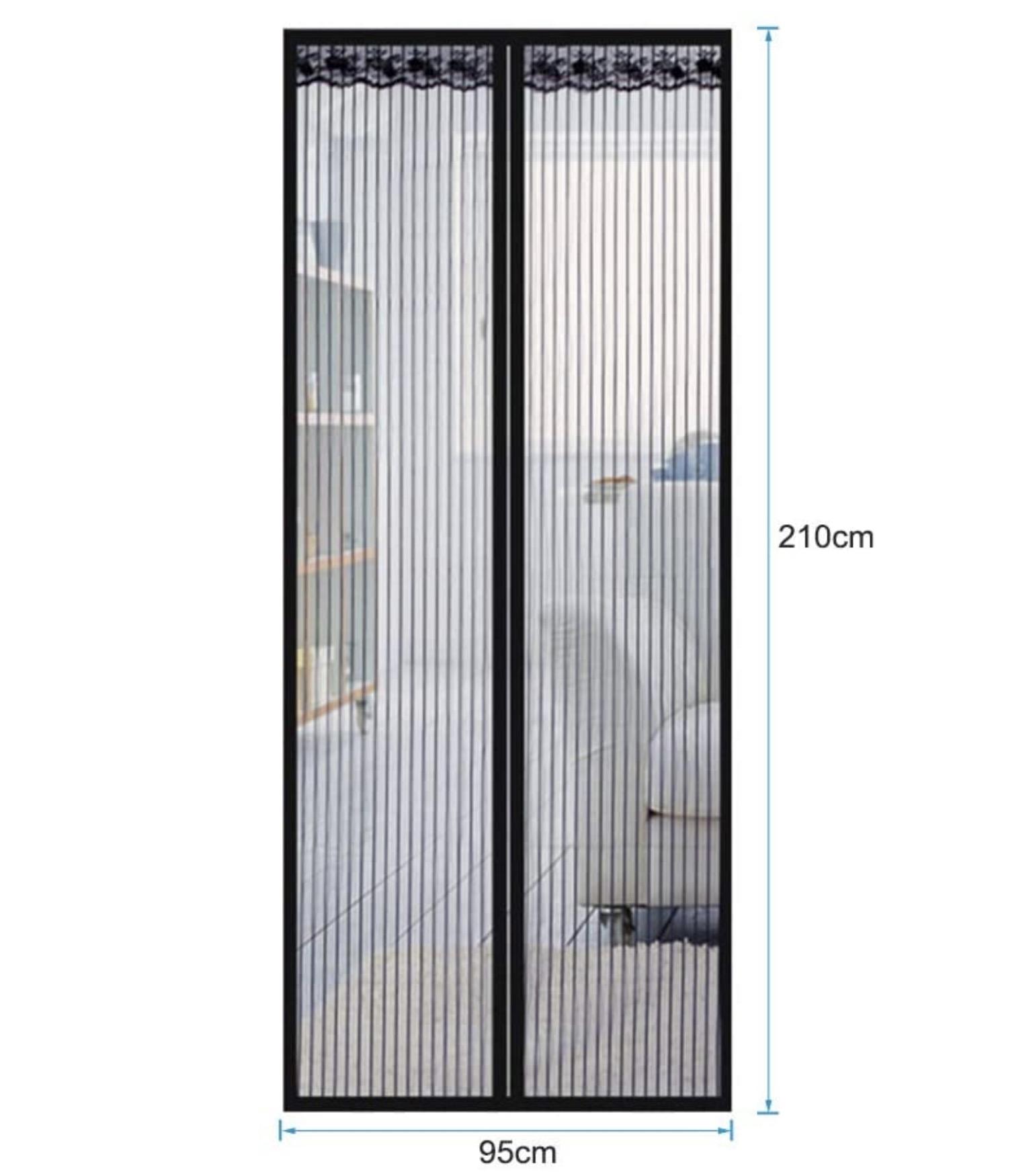 Magnet Fliegengitter für Türen (90cm x 210cm) für nur 10,49 Euro