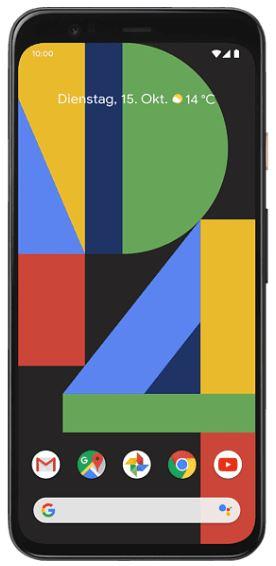 GOOGLE Pixel 4 64 GB Just Black Dual SIM in versch. Farben für nur 432,81 Euro inkl. Versand