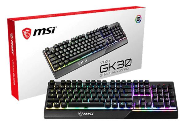 MSI Vigor GK30 DE Gaming Tastatur mit RGB Beleuchtung für nur 38,76 Euro inkl. Versand