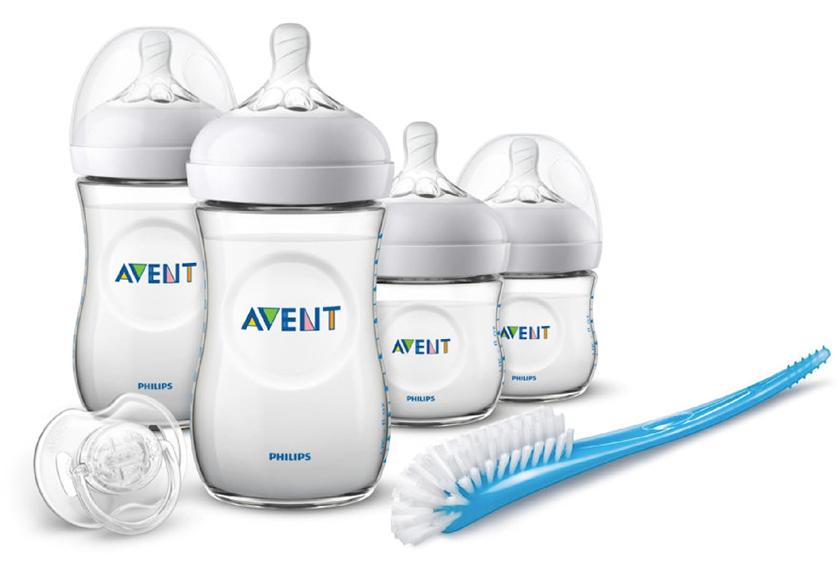 Philips AVENT Natural Starterset (4 Flaschen, Bürste & Schnuller) für nur 24,94 Euro