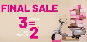 Pimkie Sale mit 60% Rabatt und einem kostenlosen Artikel (Kauf 3, zahl 2)