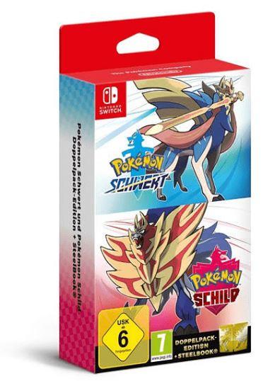 Pokémon Schwert & Pokémon Schild Doppelpack [Nintendo Switch] für nur 96,50 Euro inkl. Versand