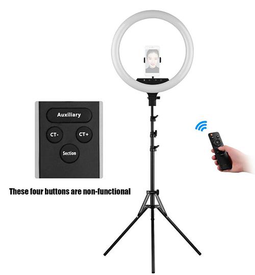 18″ Dimmbares LED-Ringlicht mit Stativ und Fernbedienung (Tiktok, Youtube, OnlyFans, etc.) für nur 35,49 Euro inkl. Versand