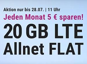 20 GB LTE Allnet Flat für 14,99 Euro monatlich – die Simplytel LTE Allnet-Flat 20.000