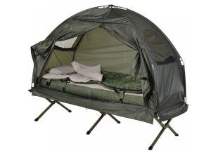 Feldbett 4in1 Camping Set (inkl. Zelt, Schlafsack, Matratze) für nur 103,92 Euro inkl. Versand