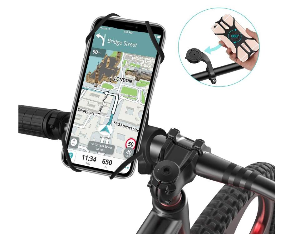 SAWAKE Fahrrad Handyhalterung 360 Grad drehbarer für nur 4,54 Euro inkl. Versand