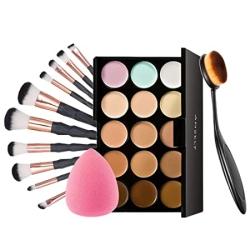 Anself Make-Up Set mit 10 Make-Up Pinseln und Farbpalette für 7,19 Euro statt 15,99 Euro
