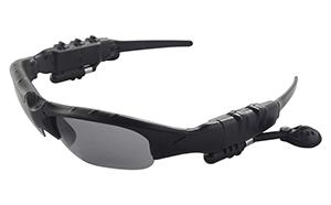 Docooler Sonnenbrille mit Kopfhörern und Mikrofon für nur 8,99 Euro