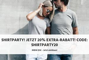 20% Rabatt auf alle T-Shirts bei Jeans Direct (MBW: 25,- Euro)