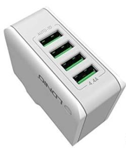 Hizek HZ-C1 4-Port USB 3.0 Ladegerät für 5,20 Euro statt 12,99 Euro bei Amazon