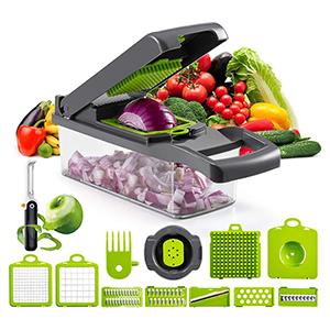 14-teiliges JXJFOZ Gemüseschneider-Set mit Schäler für nur 17,99 Euro