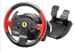 Thrustmaster T150 Ferrari Edition (Lenkrad inkl. 2-Pedalset, PS4 / PS3 / PC) für nur 129,99€ inkl. Versand