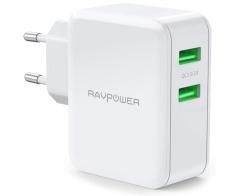 RAVPower RP-PC006 2-Port USB Ladegerät mit 36W für 13,99 Euro